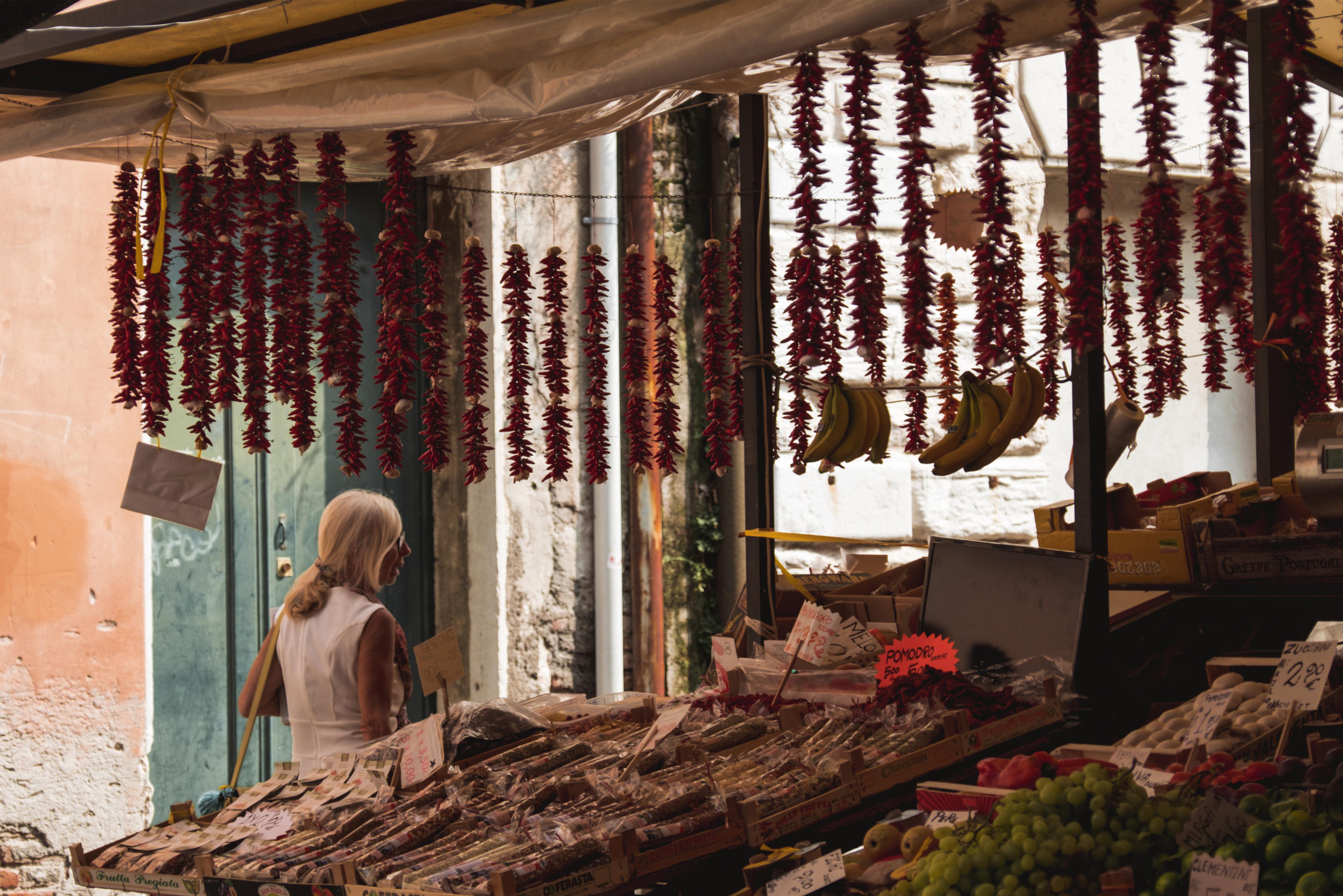 Une journee a Venise -Market